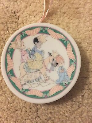 Precious Moments Mini plate 3 KINGS Hanging Ornament 1993 Enesco Collection