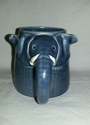 Vintage Elephant Coffee Tea Mug Gray 1970s Made in Japan