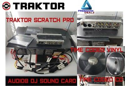Traktor Scratch Pro Audio 8 time coded cd's vinyl and all cables included