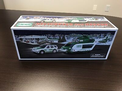 2012 Hess Truck Helicopter and Rescue Vehicles New In Box Unopened
