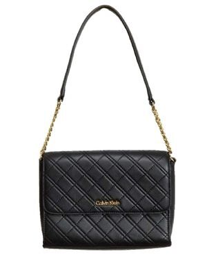 37c44bf146d Calvin Klein Chelsea Quilted Lamb Leather Demi Shoulder Bag Purse NEW $168