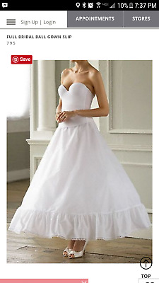 David's Bridal Full Bridal Ball Gown Slip 16R, really runs 12R