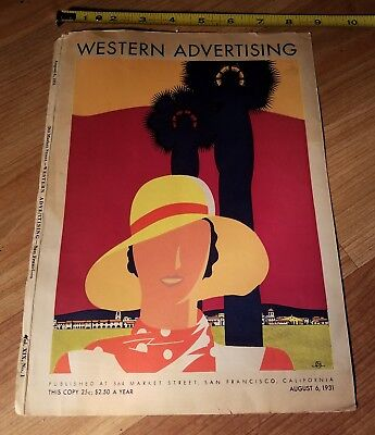 VINTAGE  Western Advertising Magazine American Type Founders San Francisco Cover
