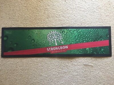 Strongbow Apple Cider Bar Mat Runner Beer Home Brew Pub Collectable