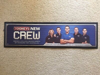 Tooheys New Bar Mat Runner Beer Home Brew Pub Collectable