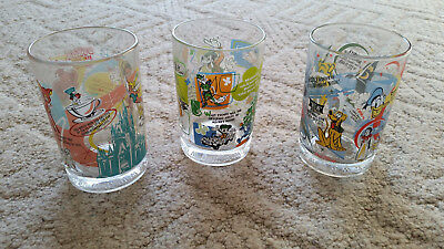 McDonald's Disney 100 Years of Magic Collectible Glasses- Lot of 3