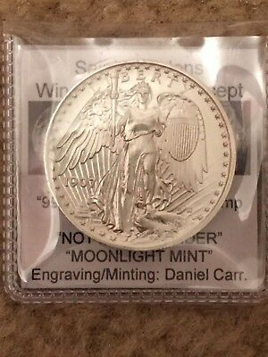 1907 Saint Gaudens Winged Liberty Concept Daniel Carr 31+ grams satin Silver