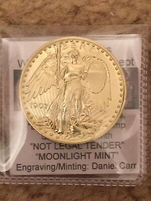 1907 Saint Gaudens Winged Liberty Concept Daniel Carr 24 grams satin Brass