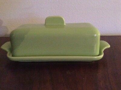 Vtg Franciscan Tiempo Butter Dish Green Mid Century Lime Sprout 1/4 lb Stick