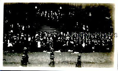 Vintage Photo I_7476 View Of Large Group Of People Posed By Stairs