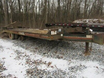 "12 Ton equipment Trailer, pintle 19' 6"" deck. !!  3 DAY AUCTION  !!"