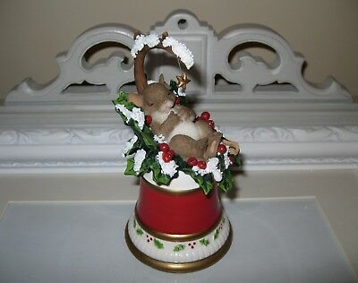 Charming Tails Wishing You The Holiday Of Your Dreams Christmas Bell Ceramic
