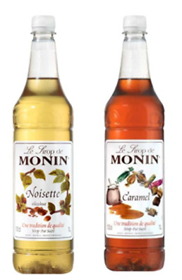 2 x Monin Syrup 1 Litre - 7 flavours to choose from