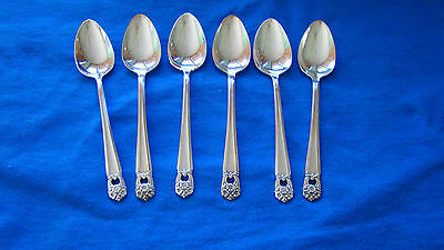 "1847 Rogers Bros. IS "" ETERNALLY YOURS""  6 Silver Plate Teaspoons"