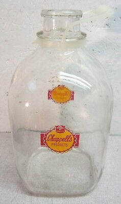 Chappell's Dairy one gallon glass jug bottle Campbellsville Ky w/ORIG handle