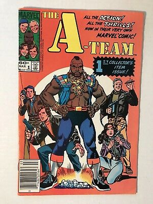 The A-Team #1 with BONUS 13 Topps Trading Cards (1984)