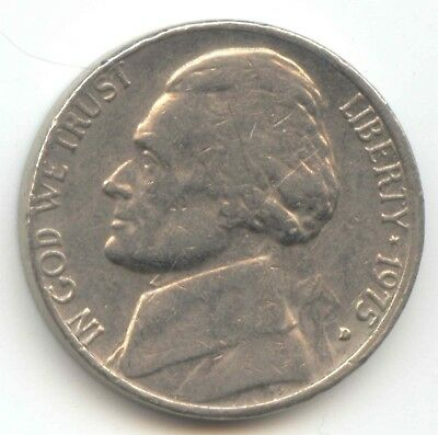 USA 1975D Five Cent American Jefferson Nickel 5c Piece 5 Cents 1975 D EXACT COIN
