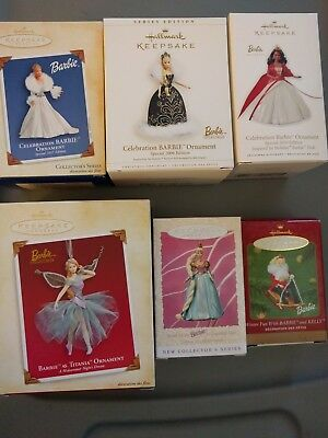 Hallmark Holiday Barbie Ornament Lot - 7 to choose from 1996-2010
