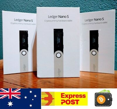 IN STOCK!! LEDGER NANO S Cryptocurrency Hardware Wallet BTC Ethereum Altcoins
