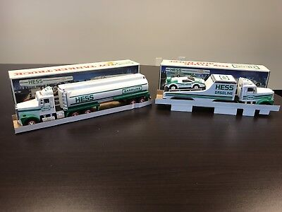 Hess Truck Lot Of 2 1990 1991 Racer Race Car Tanker With Box