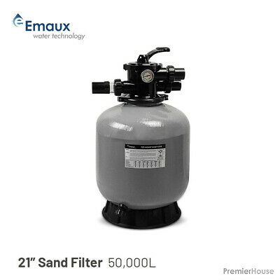 """Emaux / PIKES Pool 21"""" Sand Filter - Pool, Spa, Pump, to 50,000L, 6 Way Valve, A"""