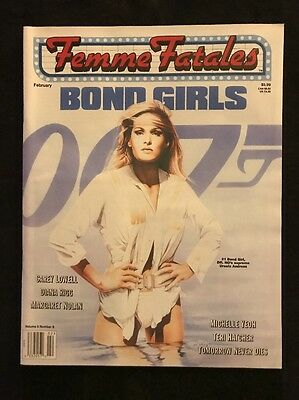 1998 Feb FEMME FATALES Magazine Bond Girls - Ursula Andress James Bond Mancave