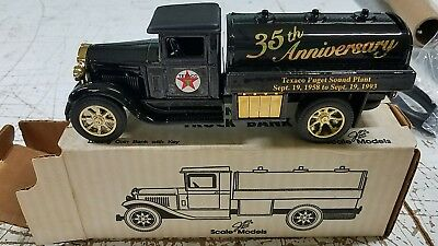 Texaco Rare JLE 35th Anniversary of the Texaco Puget Sound Plant Gold Lettering