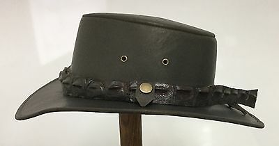 Cowboy   Digger hat with Genuine Crocodile hat band Medium /Large