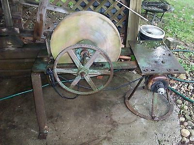 Antique Primitive Farm GRINDING WHEEL / GRIST MILL / SHARPENING STONE