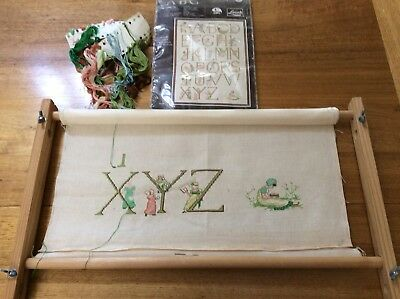 Tapestry, Cross Stitch And Embroidery Wooden Frame Take To 35cm