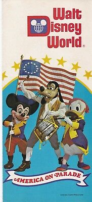 1975 Walt Disney World Brochure - America on Parade - FREE SHIPPING