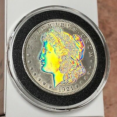 ONE-OF-A-KIND - HOLOGRAPHIC 1921 Morgan Silver Dollar $1 GEM BU Condition LOOK!