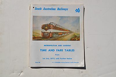 S.A. 1973 Metro &country time&fare tables