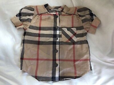Burberry Infant Baby Girl Shirt Blouse Authentic