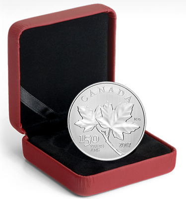 2017 Canadian Maple Leaves 1/2 oz. 99.99% Pure Silver Coin