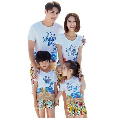 Summer New Beach Family Matching Outfits  Family Look Outfits Couple Sets