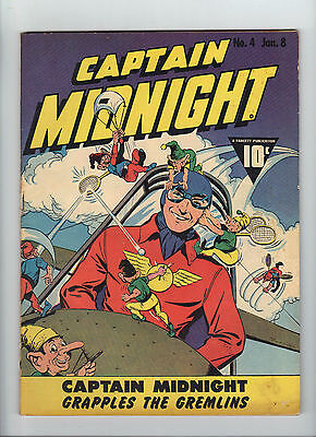 Captain Midnight #4 (1943), Beautiful unrestored High Grade book