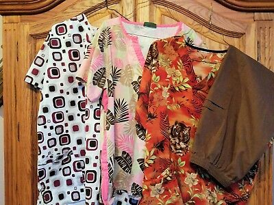Women's Scrubs L petite pants and XL tops mixed lot- Nearly New