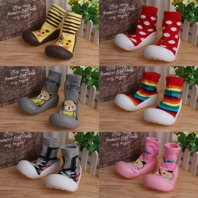 Baby Toddler Shoes Anti Slip Rubber Soft Socks Cute Newborn Infants Winter Warm