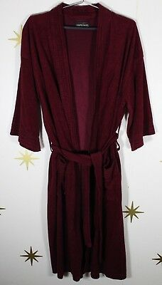 Vintage 60s Mens DIPLOMAT After Hours Soft Burgundy Bath House Robe One Size