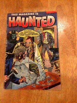 THIS MAGAZINE IS HAUNTED #13 (Oct 1953 Fawcett) Severed Head Cover Story!