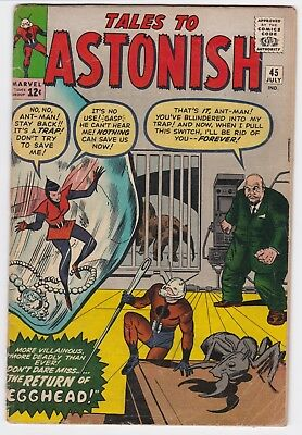 Tales To Astonish #45 Vg+! 2Nd Appearance Of The Wasp