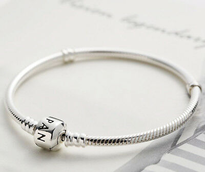 Pandora Genuine Moments Sterling Silver Barrel Clasp Bracelet 590702HV
