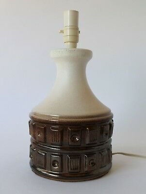 Vintage Retro 60s/70s CERAMIC TABLE LAMP BASE Mid Century Eames BRONZE Chunky