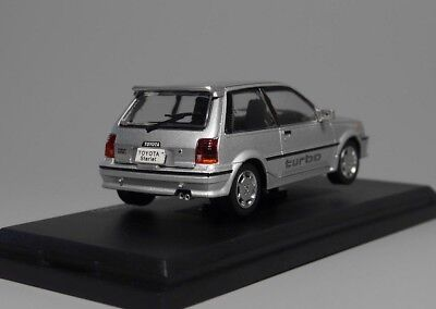 Toyota Starlet Turbo S 1986 Rare Diecast Scale 1:43 New W/ Stand