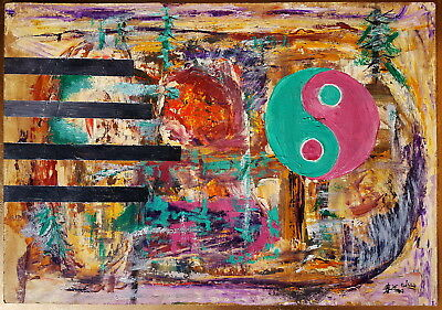 CHAO CHUNG-HSIANG ~ Chunxiang signed abstract painting ~ Chinese American Zhao