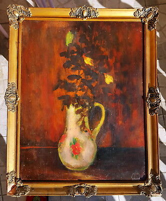 SANYU signed oil painting with blondel frame ~ Chinese French Chang Yu San Yu