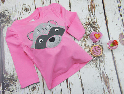 Blade and Rose Pink Racoon Top 0-6, 6-12 Months 1-2, 2-3 & 3-4 Yrs