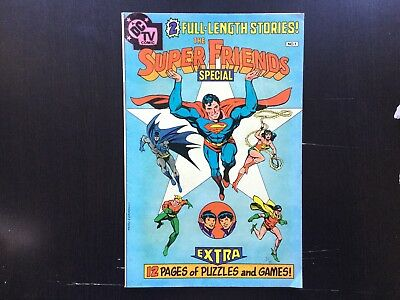 The Super Friends Special #1 VG+ Puzzles Not Filled in! Promo Goveaway