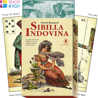 Sibilla Indovina Oracle Cards Deck Valerio Ramponi Telling Lo Scarabeo New